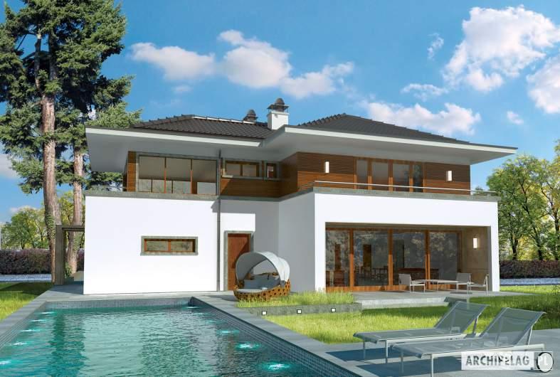 Projekt domu Leonardo G2 - wizualizacja ogrodowa