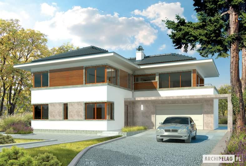 Projekt domu Leonardo G2 - wizualizacja frontowa