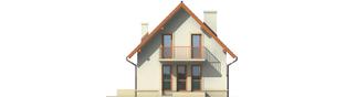 Projekt domu Dorotka - elewacja tylna