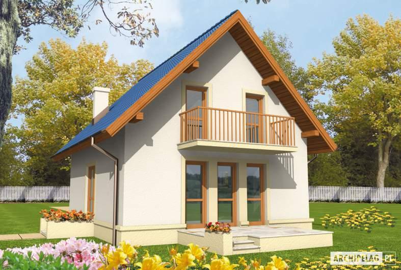 Projekt domu Dorotka - wizualizacja ogrodowa