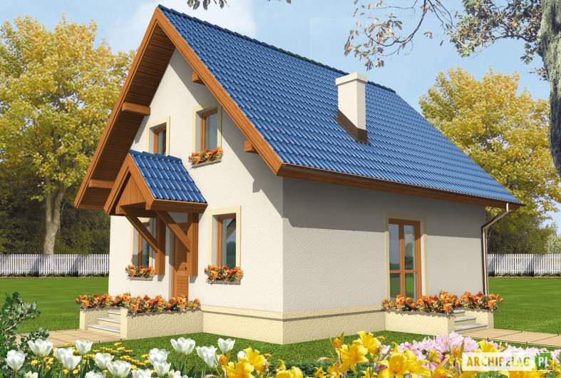 Projekt domu Dorotka - wizualizacja frontowa