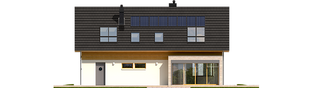 Projekt domu Benjamin II G2 ENERGO - elewacja tylna