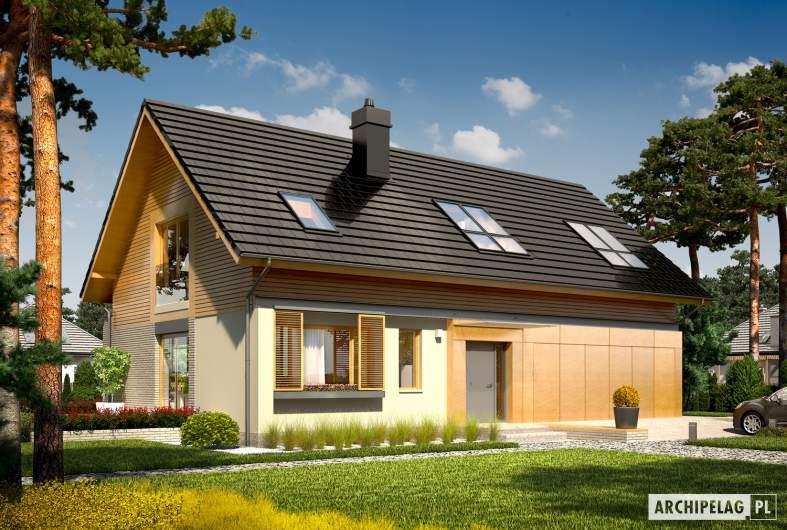 Projekt domu Benjamin II G2 ENERGO - Benjamin II G2 ENERGO wizualizacja frontowa