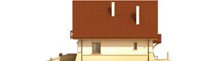 Projekt domu Wojtek - elewacja lewa