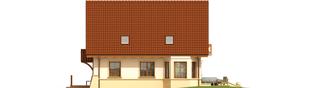 Projekt domu Wojtek - elewacja prawa