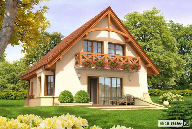 Projekt domu Wojtek - wizualizacja ogrodowa
