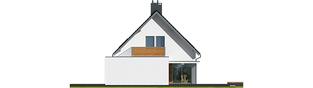 Projekt domu Lars G1 (wersja A) - elewacja prawa