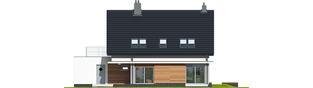 Projekt domu Lars G1 (wersja A) - elewacja tylna
