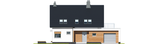 Projekt domu Lars G1 (wersja A) - elewacja frontowa