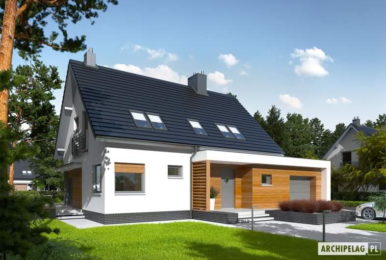 Projekt domu Lars G1 (wersja A) - Projekty domów ARCHIPELAG - Lars G1 (wersja A) - wizualizacja frontowa