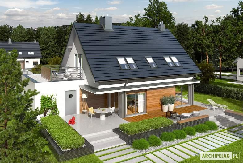 Projekt domu Lars G1 (wersja A) - Projekty domów ARCHIPELAG - Lars G1 (wersja A) - widok z góry