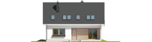 Projekt domu E2 ECONOMIC (wersja B) - elewacja frontowa