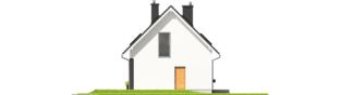 Projekt domu E2 ECONOMIC (wersja B) - elewacja lewa