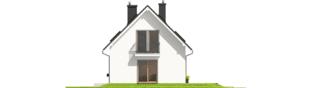 Projekt domu E2 ECONOMIC (wersja B) - elewacja prawa