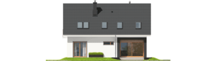 Projekt domu E2 ECONOMIC (wersja B) - elewacja tylna