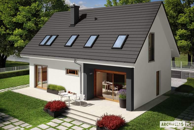 Projekt domu E2 ECONOMIC (wersja B) - widok z góry