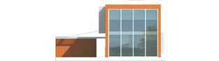 Projekt domu Romek (z wiatą) - elewacja tylna