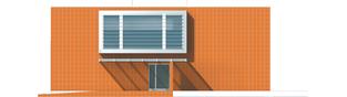 Projekt domu Romek (z wiatą) - elewacja prawa