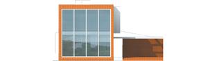 Projekt domu Romek (z wiatą) - elewacja frontowa