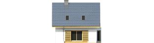Projekt domu Syrenka - elewacja tylna