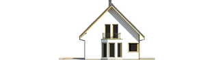 Projekt domu Syrenka - elewacja lewa