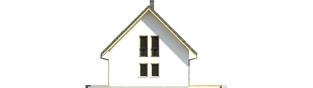 Projekt domu Syrenka - elewacja prawa