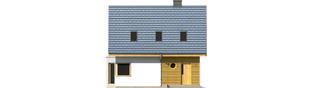 Projekt domu Syrenka - elewacja frontowa