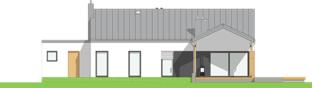 Projekt domu Mini 4 w. III G1 - elewacja tylna