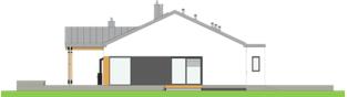 Projekt domu Mini 4 w. III G1 - elewacja lewa