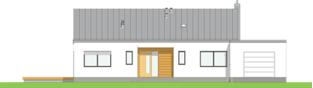 Projekt domu Mini 4 w. III G1 - elewacja frontowa