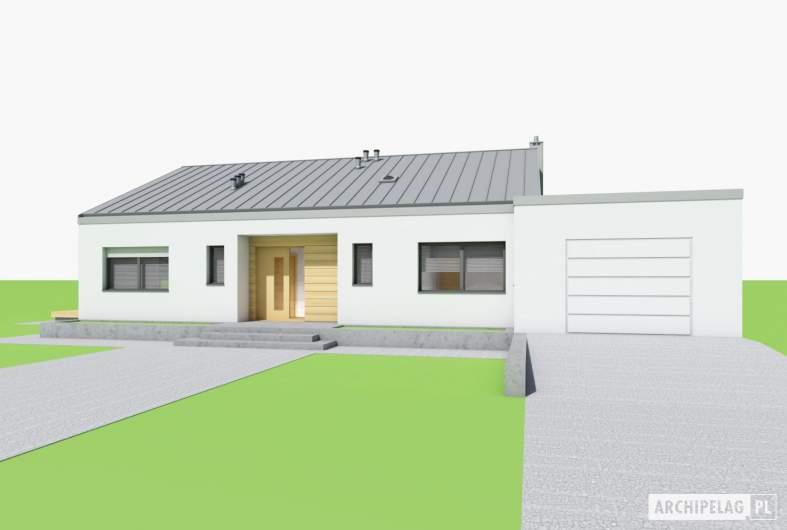 Projekt domu Mini 4 w. III G1 - wizualizacja frontowa