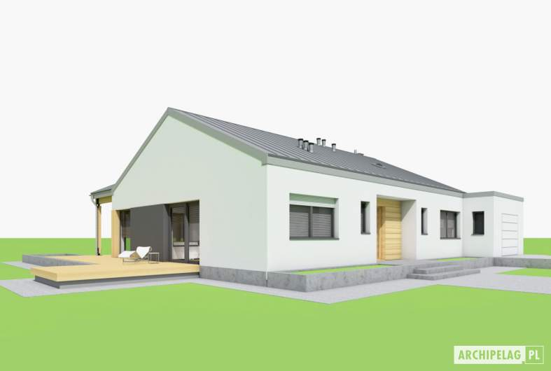 Projekt domu Mini 4 w. III G1 - wizualizacja lewa