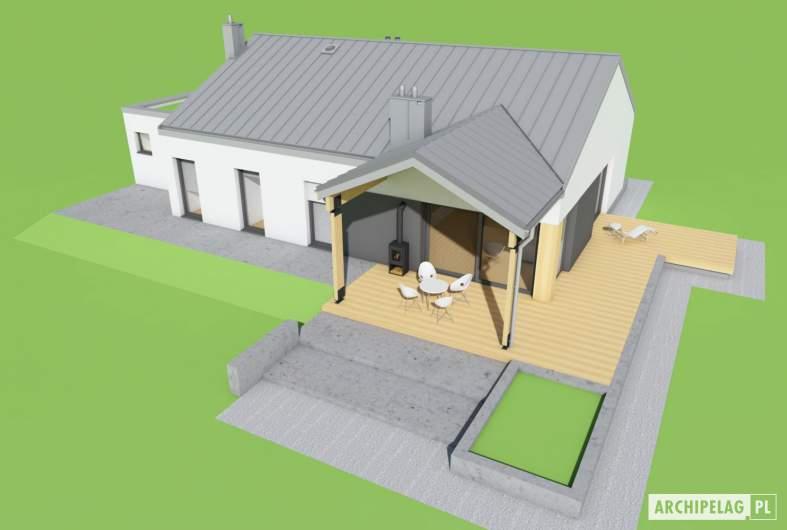 Projekt domu Mini 4 w. III G1 - widok z góry