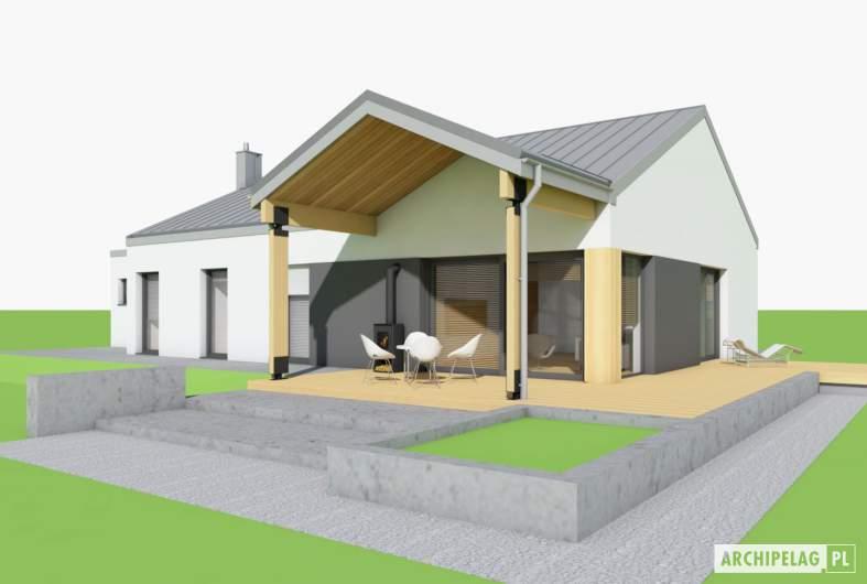 Projekt domu Mini 4 w. III G1 - wizualizacja ogrodowa