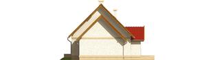 Projekt domu Igusia G1 - elewacja lewa