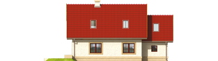 Projekt domu Igusia G1 - elewacja tylna