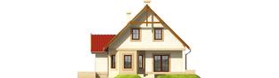 Projekt domu Igusia G1 - elewacja prawa