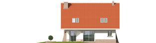 Projekt domu Jagienka - elewacja tylna