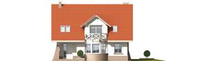 Projekt domu Jagienka - elewacja frontowa