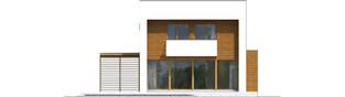 Projekt domu EX 5 G1 soft - elewacja tylna