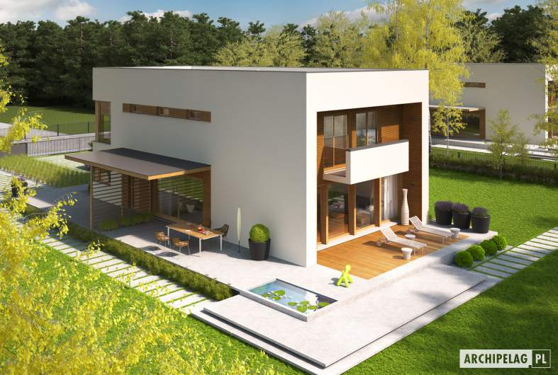 Projekt domu EX 5 G1 soft - widok z góry
