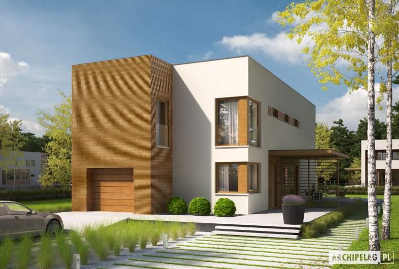 Projekt domu EX 5 G1 soft - wizualizacja frontowa