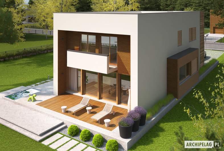 Projekt domu EX 5 G1 soft - wizualizacja ogrodowa widok z góry