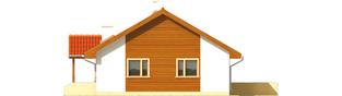 Projekt domu Joachim - elewacja prawa