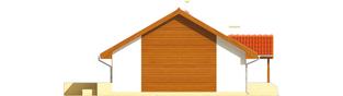 Projekt domu Joachim - elewacja lewa