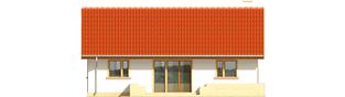 Projekt domu Joachim - elewacja tylna