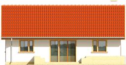 Joachim - Projekt domu Joachim - elewacja tylna