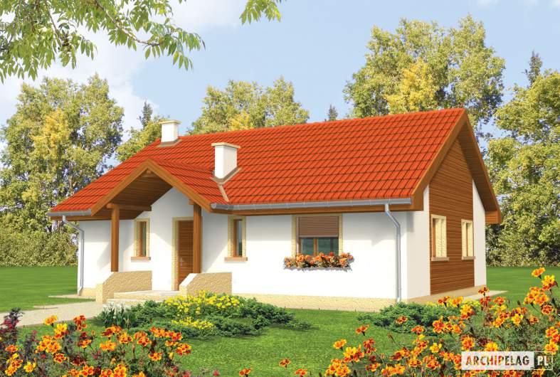 Projekt domu Joachim - wizualizacja frontowa