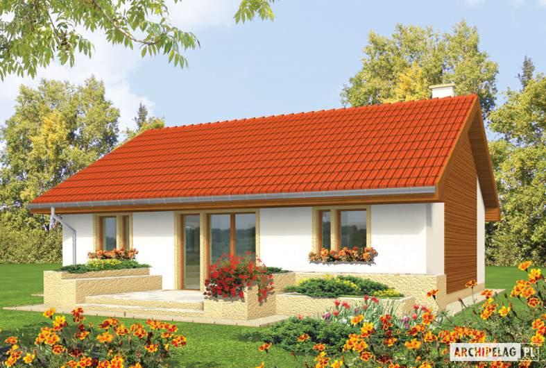 Projekt domu Joachim - wizualizacja ogrodowa