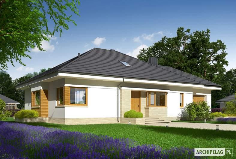 Projekt domu Flo III G1 - wizualizacja frontowa